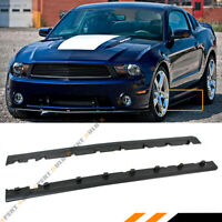 FOR 2010-14 FORD MUSTANG R STYLE BLK ROCKER PANEL SIDE SKIRT EXTENSION SPLITTER