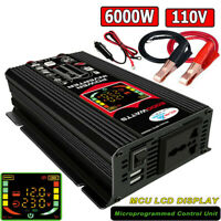 Power Inverter DC 12V to AC 220V Pure Sine Car Sine Wave Converter  Camping Boat