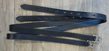 "Black English Stirrup Leathers 54"" Long 1"" Wide"