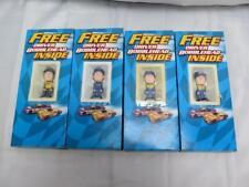 Lot of 4 Kraft Nascar Driver Mini Bobbleheads In Box Busch Burton Kenneth Martin
