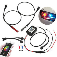 Evil Eyes Blueteeth App Car RGB LED Headlight Projector Light Lamp Retrofit 2pcs