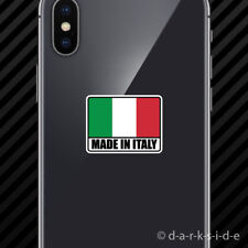 (2x) Made in Italy Cell Phone Sticker Mobile Italian IT