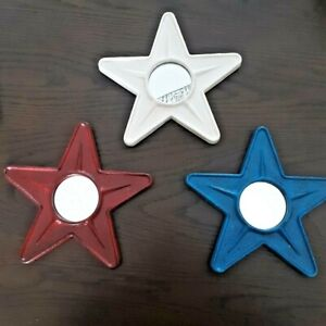 Red, White, and Blue - Star Shaped Metal Americana Hanging Wall Mirrors
