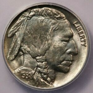 1938-D 1938 Buffalo Nickel ICG MS66 Buffalo Cool mint error - Laminated