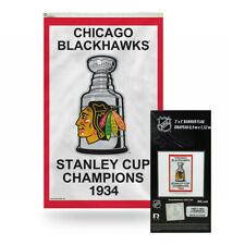 Chicago Blackhawks 1934 NHL Stanley Cup Champions 3x5 Vertical Banner Flag