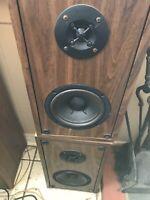 Pair Of ALTEC LANSING HIGH FIDELITY 100 Watt 4 Ohm Speakers