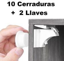 10 Cerraduras Invisible Magnetica Puertas Cajones Muebles Seguridad Bebes Niños