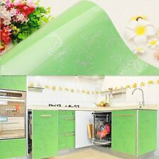 Gloss Green PVC Contact Paper Kitchen Cupboard Door Wardrobe Cover Wall Sticker