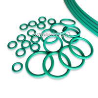 10Pcs Green Viton FKM Fluorine Rubber O Ring Oil Sealing Gasket CS 1mm OD 4-32mm