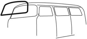 Windshield Seal w/ Molding Groove Type 2 Bus, 1968-79 - EMPI 98-8614 211-845-121