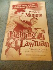 THE FIGHTING LAWMAN(1953)WAYNE MORRIS LOT OF 3 ORIGINAL PRESSBOOKS