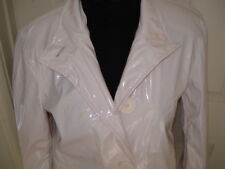 New Woman's Shed Rain  Polyvinyl Rain Coat White SZ Small