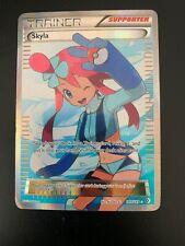 Pokemon Card Skyla 149/149 Boundaries Crossed FULL ART HOLO RARE
