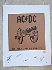 AC/DC Signed Autographed Litho For Those PSA Certified #9 of 50 Artist's Proof