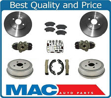 93-97 Corolla Prizm Brake Disc Rotors Pads Drums Shoes Cylinders Springs 9Pc Kit