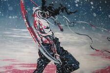 Afro Samurai Oil Painting 40x12 NOT print or poster Framing Avail bebop anime