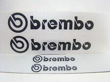 SET OF 2x 105mm and 2x 40mm BREMBO SUBARU BLACK CALIPER DECALS STICKER HIGH TEMP