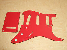 RED 3 Ply RBR SSS SCRATCH PLATE Pickguard Set to fit USA/Mex Stratocaster Strat