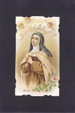 SANTA TERESA DI GESÙ 07 - SANTINO HOLY CARD IMMAGINETTA RELIGIONE - primi '900