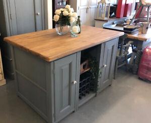 Dark Grey Kitchen Island,Kitchen table 2 Sided Breakfast Bar,Shop,Kent furniture