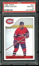 1985 Topps Hockey Chris Chelios #51 PSA 10 GEM MINT  Montreal Canadiens