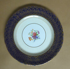 AYNSLEY Hatfield Cobalt Blue Dinner Plate - 10¼ Inches
