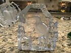 Royal Krona From Sweden ~ Full Lead Crystal Etched Eagle Sculpture Mats Jonasson
