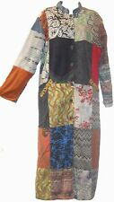Nwt FUNKY STUFF cotton wool rayon patch hippy boho lined maxi DUSTER COAT 2X