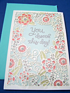 NEW Hallmark YOU DESERVE THIS DAY! Happy Mothers Day Greeting Card & Env. SEALED