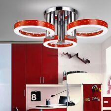 "Modern Round Crystal LED Ceiling Light Pendant Flush Lamp Fixture 23"" - 30"""