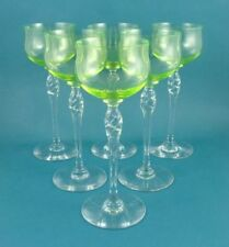 Green Antique Original Uranium Date-Lined Glass