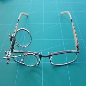 Watchmakers Double Eye Glass 3.3 x 3.3 Magnification| Clip to glass Frame Type