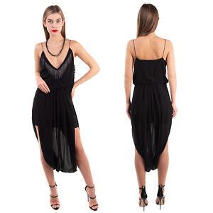 RRP €2175 SAINT LAURENT Silk Blouson Dress Size 40 / L Harem Hem Made in Italy