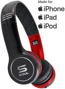 SOUL by Ludacris SL100RB Ultra Dynamic Headband On-Ear Headphones - Black/Red
