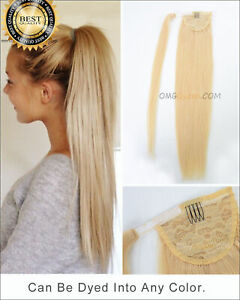 Deluxe Clip In Ponytail As Human Hair Extension Piece Quality Traceless UK TOP