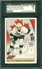 Wayne Gretzky 1993 O-Pee-CHEE (OPC) Premier - AUTOGRAPH - SGC 84/7 - JSA Auth