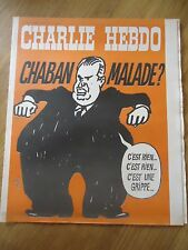 CHARLIE HEBDO N°178 CHABAN MALADE GRIPPE PRESIDENT CABU 15 avril 1974 ORIGINAL