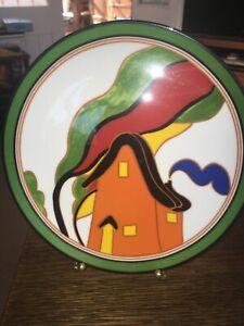 WEDGWOOD CLARICE CLIFF ORANGE HOUSE PLATE LTD EDT - 2219A