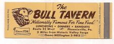 The Bull Tavern, Route 23, Phoenixville PA Chester Full Length Matchcover 061418