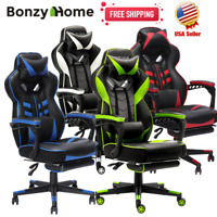 Racing Gaming Chair Executive Computer Office Chair Desk Seat Swivel Recliner US
