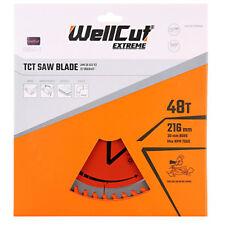 Wellcut TCT Lame Scie 216 mm x 48 T X 30 mm alésage pour GCM800, GCM8SJL, KGS216, C8FSR