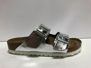 Birkenstock Arizona Womens Slide Sandal Metallic EUR37 US6 M