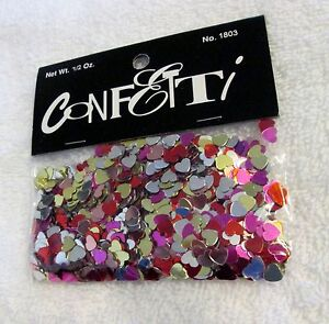New 4 pkgs. Multicolored Valentine heart confetti