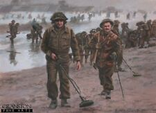 WW2 Military Art Post Card British  Royal Engineers D Day Normandy Gold Beach