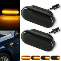 2pc For VW MK4 Golf Jetta GTI R32 Dynamic Flowing LED Side Marker Signal Lights