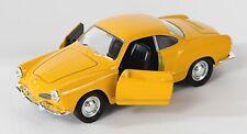 BLITZ VERSAND VW Karmann Ghia Coupe gelb / yellow Welly Modell Auto 1:34 NEU OVP