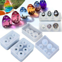 New Sphere Ball Egg Shape Silicone Mold  Resin Casting Jewelry Making Mould DIY