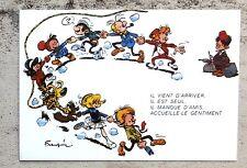 """Franquin dessin inédit Appel de Noël """"Enfant en détresse"""" 1968 Caritas Secours"""