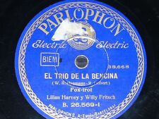 GERMAN 78 rpm RECORD Parlophon LILIAN HARVEY & WILLY FRITSCH Trío de la Bencina
