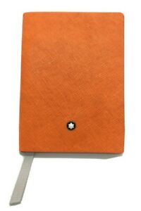 Authentic Montblanc Leather Notebook #145 (small) - Lucky Orange, Lined Notepad
